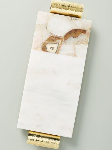 מגש לגבינות מאבן אגט בשילוב שיש