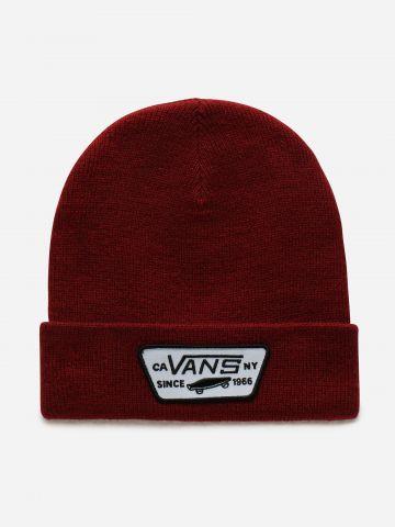 כובע גרב סרוג עם פאץ' לוגו / גברים