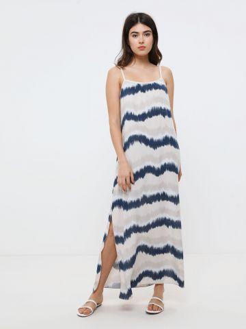 שמלת מקסי בהדפס טאי דאי