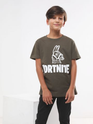 טי שירט עם הדפס Fortnite / בנים