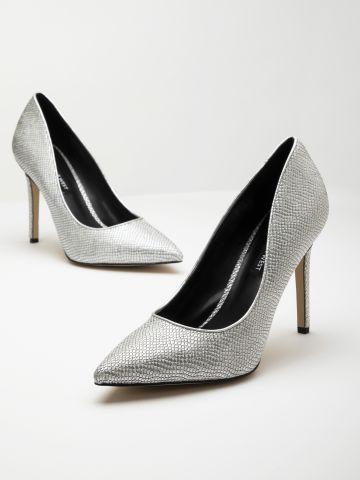נעלי עקב סטילטו מעור / נשים