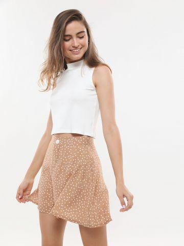 מכנסיים קצרים בהדפס נקודות