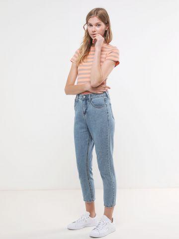 ג'ינס MOM בגזרת קרופ