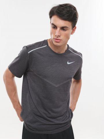 חולצת ריצה TechKnit Ultra עם הדפס לוגו
