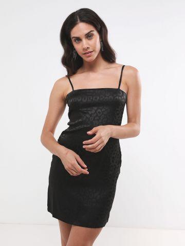 שמלת מיני סאטן בהדפס חברבורות של TERMINAL X