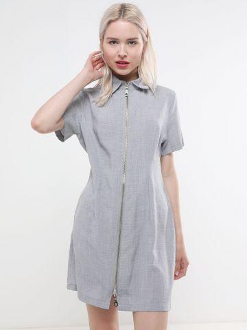 שמלת מיני עם רוכסן בחזית