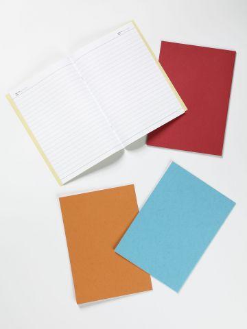 מארז 4 מחברות שורה צבעוניות