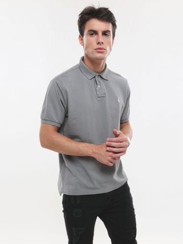 חולצת פולו סלים פיט עם פאץ' לוגו Slim Fit