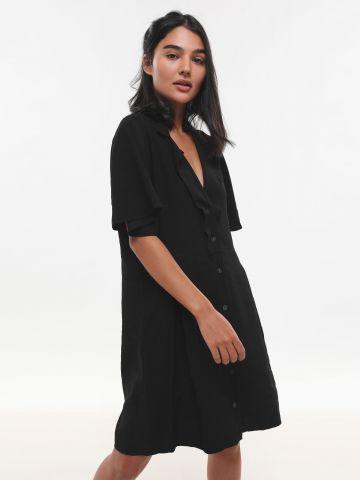 שמלת מיני אוברסייז עם כפתורים