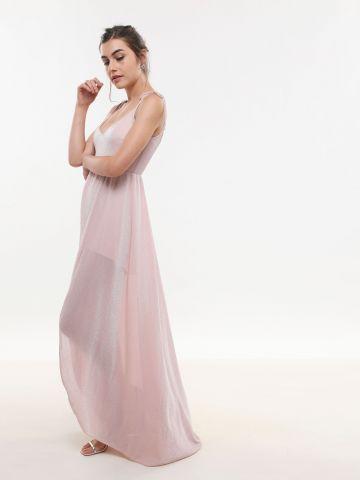 שמלת מקסי באפקט גליטר עם שסע X ולנסיה שושיין