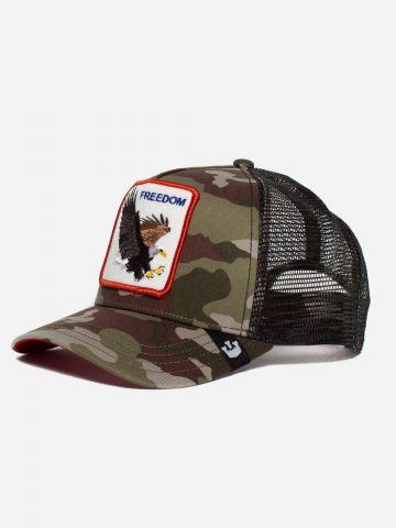 כובע מצחיה קמופלאז' עם פאץ' נשר Freedom