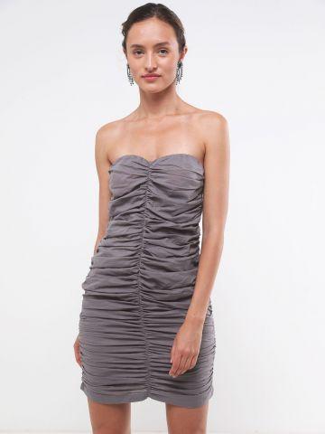 שמלת סטרפלס מיני כיווצים של TERMINAL X