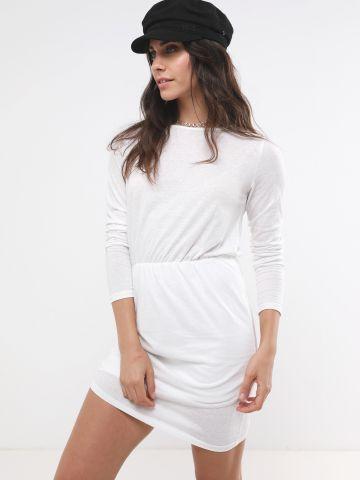 שמלת מלאנז' עם כווצים