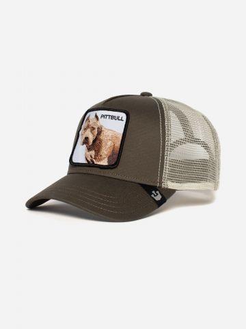 כובע מצחייה עם פאץ' כלב Pittbull / גברים