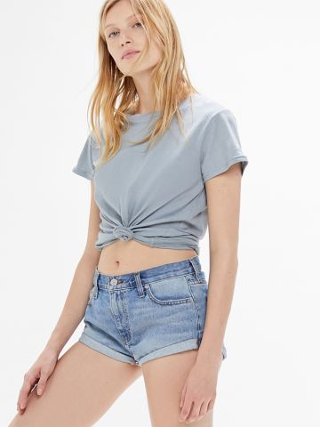 ג'ינס קצר בגזרה נמוכה BDG