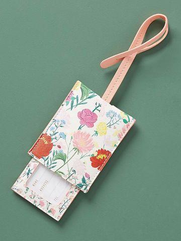 תג למזוודה בהדפס פרחים Jackie Diedam