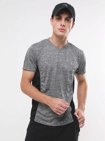חולצת ספורט עם סטריפים רשת
