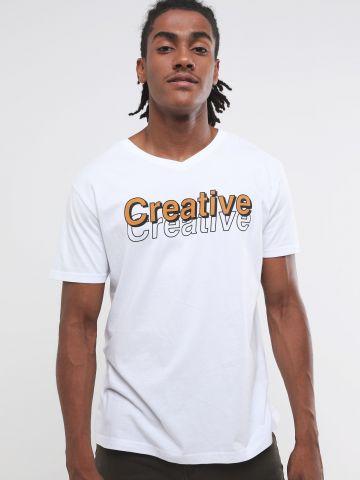 טי שירט עם הדפס Creative