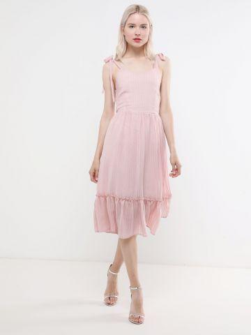 שמלת מלמלה מידי בטקסטורת פסים