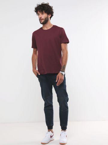מכנסיים ארוכים דמוי ג'ינס