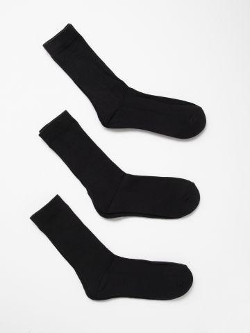 מארז 3 זוגות גרביים גבוהים / גברים