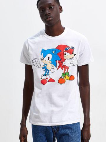 טי שירט עם הדפס Sonic And Knuckles UO