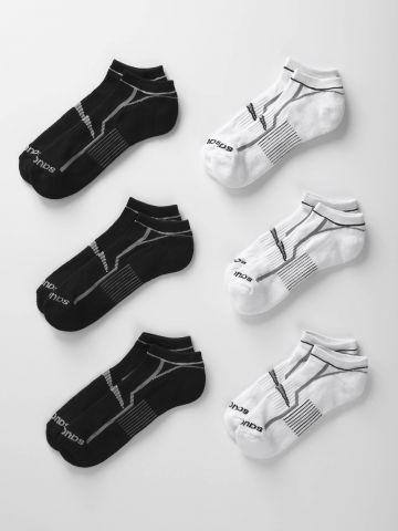 מארז 6 זוגות גרביים נמוכים / גברים