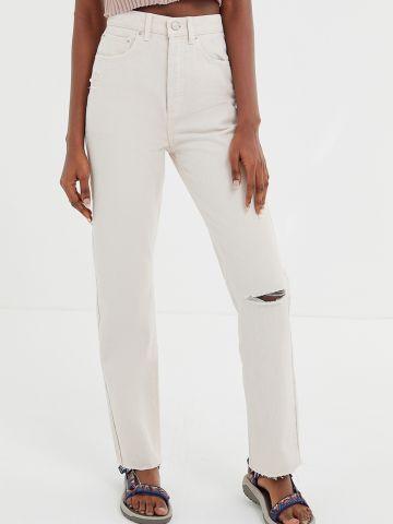 ג'ינס בגזרה ישרה עם קרע BDG