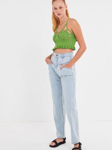 ג'ינס רחב בגזרה ישרה BDG
