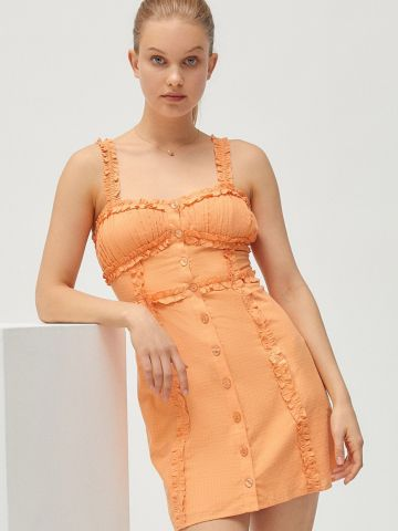 שמלת מיני עם כפתורים UO