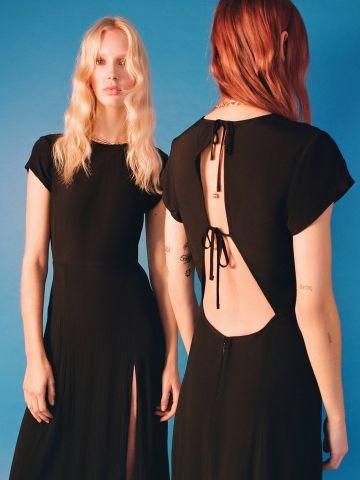 שמלת מידי עם שסע עמוק וגב פתוח UO