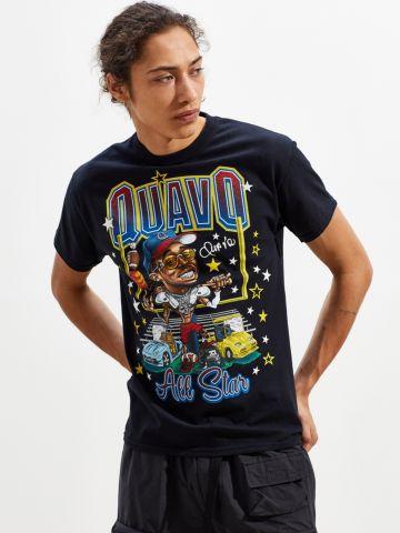 טי שירט עם הדפס Quavo All Star UO