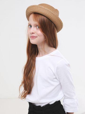 כובע קש עם אוזניים / בנות