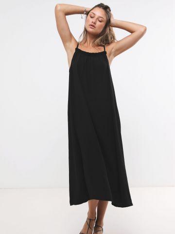 שמלת מקסי עם קשירה בגב