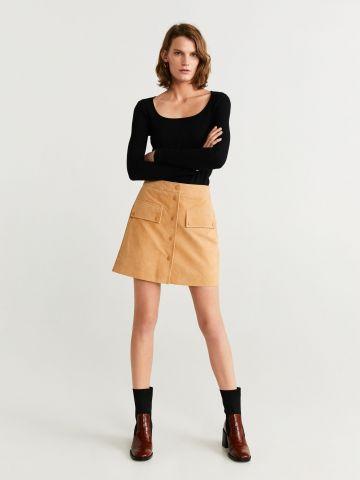 חולצת ריב עם שרוולים ארוכים / נשים
