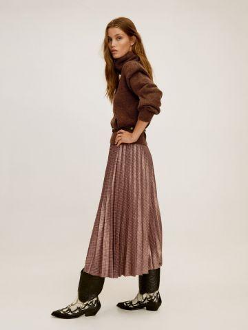 חצאית מידי פליסה משבצות