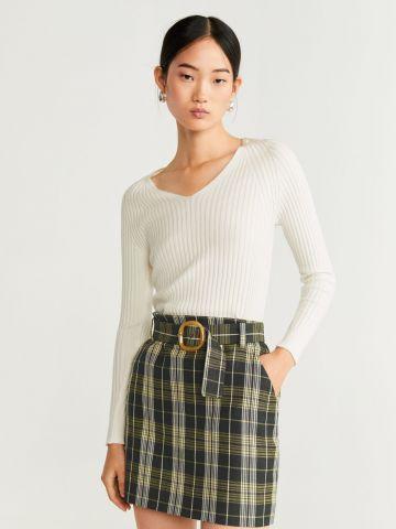 חצאית מיני בהדפס משבצות