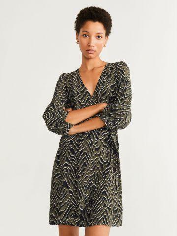 שמלת מיני מעטפת בהדפס חברבורות / נשים