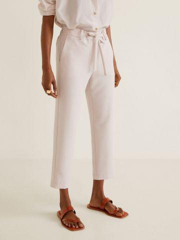 מכנסיים ארוכים עם חגורת קשירה