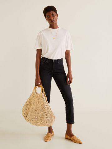ג'ינס קרופ בגזרת סלים-פיט