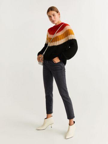 ג'ינס קרופ בגזרת סלים פיט