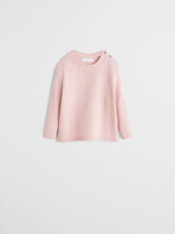 סוודר עם כפתורים בכתף / בנות