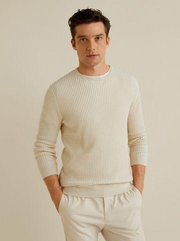 סוודר ריב בדוגמת צמות / גברים