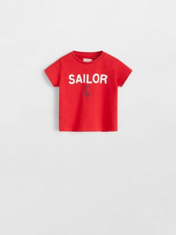 טי שירט עם הדפס Sailor / בייבי בנים