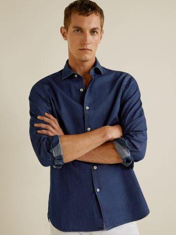 חולצת ג'ינס מכופתרת Slim-fit