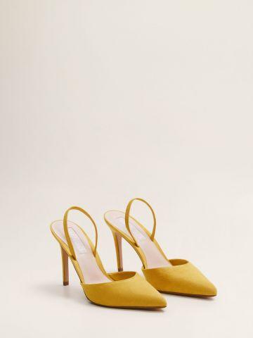 נעלי עקב סטילטו זמש