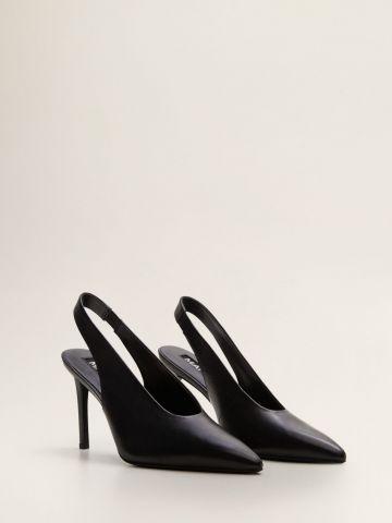 נעלי עקב סטילטו עור עם רצועת קרסול של MANGO