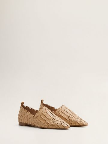 נעלי מוקסין בטקסטורת קליעה