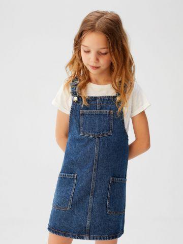 סרפן ג'ינס עם כיסים בחזית / בנות