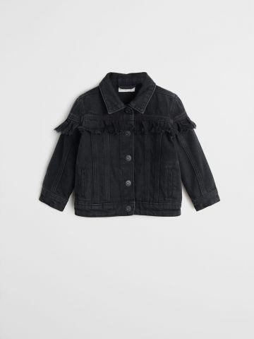 ג'קט ג'ינס עם פרנזים / 12M-4Y
